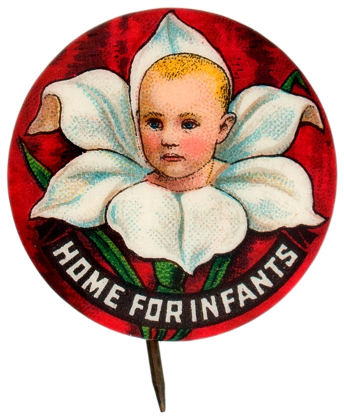 HOME FOR INFANTS GRAPHIC BUTTON.
